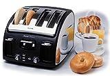 T-fal 532840 Avante Deluxe 4-Slice Toaster, Black/Chrome