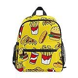 My Daily Kids Mochila Fast Foods coloridos Doodle guardería bolsas para niños preescolares
