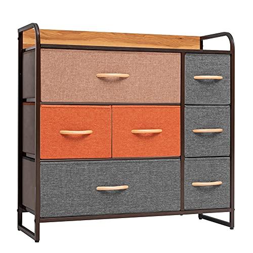 Crestlive Products Dresser Storage Drawer Organizer, Fabric Dresser for Bedroom, Living Room,...