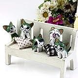 Kofun Figura Decorativa de Jardín de Gatos en Miniatura, 1 Pieza de Color al Azar 3 cm
