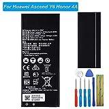 E-yiiviil HB4342A1RBC Batterie de Rechange Compatible avec Huawei Ascend Y6 Honor 4A SCC-U21 SCL-L00 SCL-L03 avec Outils