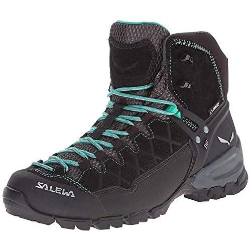SALEWA Alp Trainer Mid Gore-Tex, Scarpe da Arrampicata Alta Donna, Multicolore (Black Out/agata), 37 EU