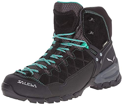 SALEWA Alp Trainer Mid Gore-Tex, Scarpe da Arrampicata Alta Donna, Multicolore (Black Out/agata), 38 EU