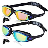 Keary Swim Goggles 2 Pack Anti-Fog Swimming Goggles for Adult Women Men Youth Junior Kids, No...