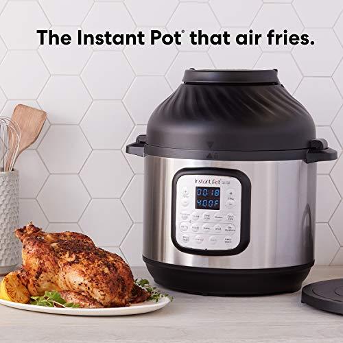 Instant Pot Air Fryer + EPC Combo 8QT Electronic Pressure Cooker, 8-QT, Black/Stainless Steel