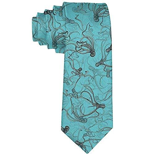 Corbata de pulpo negro para hombres corbatas Business