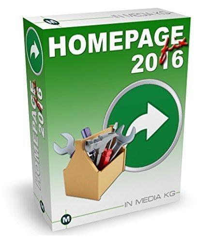 Preisvergleich Produktbild Homepagefix 2016 - Webdesign Programm zum einfachen Erstellen von Internetseiten ohne Programmierkenntnisse - das kinderleichte Webdesignprogramm für Jedermann