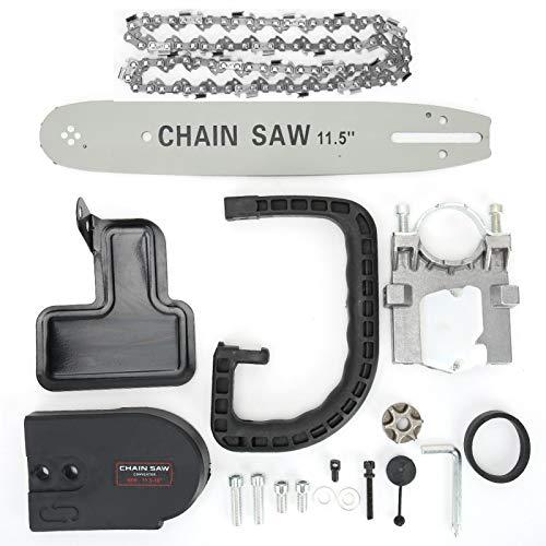 Ángulo de sierra de cadena, amoladora angular de carpintería de jardín de 11.5 pulgadas, juego de soporte de sierra de conversión de sierra de cadena, accesorios de jardinería
