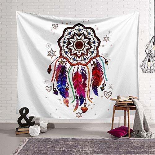 N/A Impresión 3D de tapices Moda Color Pluma Serie de impresión Digital Tapiz para el hogar Colgante de Pared Toalla de Playa Estancia en casa Fondo Tela Decorativa Regalo de Arte