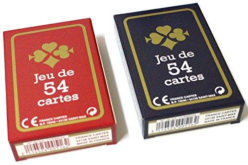 lot de 2 Jeux de 54 cartes...
