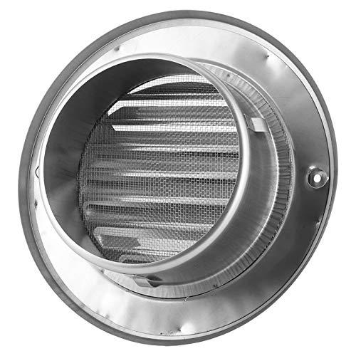 Ventilación de aire (125 mm) Campana de rejilla de ventilación impermeable con forma de bola de acero inoxidable 304 para secadora y baño