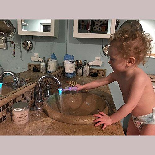 2 Packung Bunte LED Wasser Wasserhahn mit 3 Farben wechseln Temperaturkontrolle, FLYING RC-F03 Wasser-Wasserhahn-Hahn Für Küche und Badezimmer. - 7
