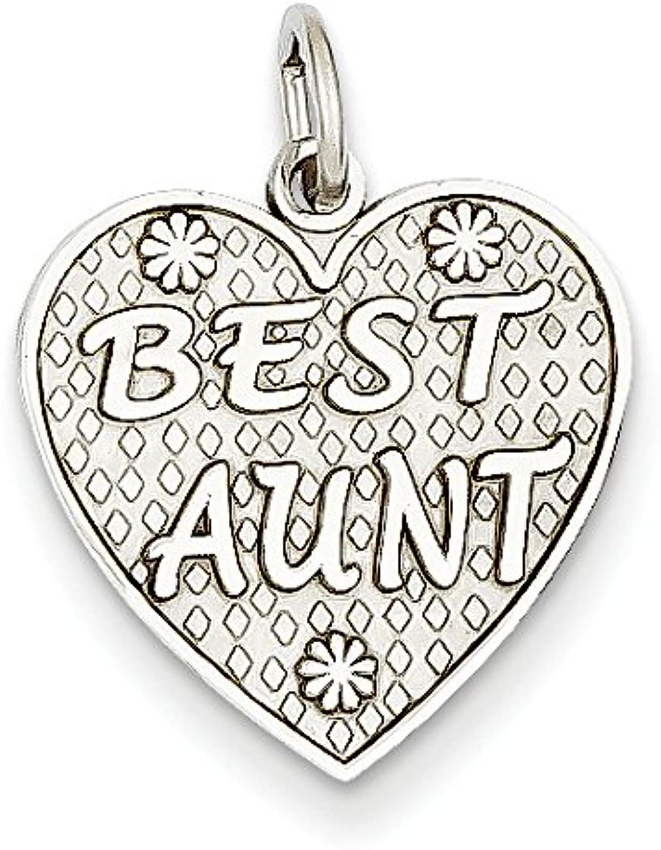 Diamond2Deal 14k White gold Best Aunt Pendant