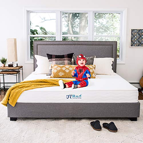 "Sunrising Bedding 8"" Natural Latex King Mattress, Individually Encased Pocket Coil, Firm, Supportive, Naturally Cooling, Non-Toxic Organic Mattress, 120-Night Risk-Free Trial, 20-Year Warranty"