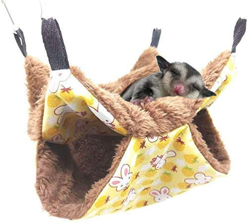 Hamster Cage, Pet Cage Hammock Bunkbed Sugar Glider Hammock Guinea Pig Cage Accessories Bedding Warm Hammock for Small Animal Parrot Sugar Glider ferret Squirrel Hamster Rat Playing Sleeping
