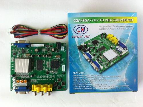 Arcade Game RGB/CGA/EGA/YUV to VGA HD Arcade Game Video Converter Board 1 VGA Output for Arcade Jamma Game Monitor to LCD CRT Monitor PDP Monitor (GBS-6200, 1Vga)