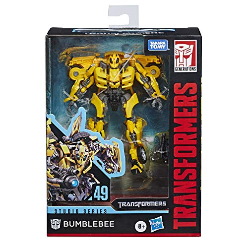 Transformers Toys Studio Series 49 Deluxe Class Movie 1 Bumblebee Action Figure - Kids Ages 8 & Up, 4.5'