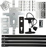 KOTARBAU® Garagenschloss 60 mm Stahl Set Torschloss Garagentorschloss Profilzylinder für Schwingtore Tortreibriegel Torverschluss Verschluss Satz Torbeschlag