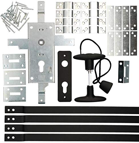 KOTARBAU® Serrure de garage - 60 mm - En acier - Pour porte de garage - Cylindre profilé pour portes basculantes