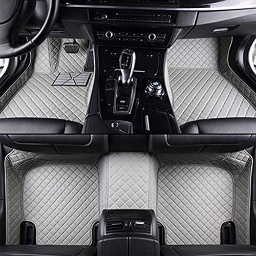 Super1Six Auto Fußmatten Fit Für Toyot-A RAV4 Full Coverage Custom Leder Fußpolster Teppich 2019-2020,Grau