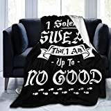 Uclipers White I Solemnly Swear That I am Up to No Good Warm Soft Throw Blanket for Adults Kids All Season Microfiber Fleece Blanket Lightweight Anti-Pilling Home Decorative Flannel Blanket 50'x40'