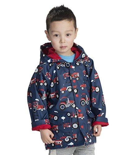 Hatley Jungen Printed Rain Jacket Regenmantel, (Tractors), (Herstellergröße: 12 Jahre)