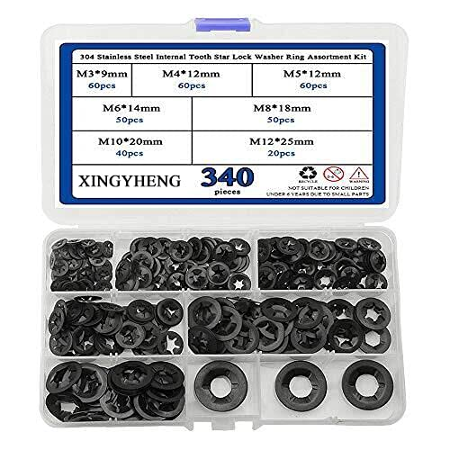 XINGYHENG 340Pcs 7 Size Weekly update 304 Internal ToothSt Stainless Steel online shopping