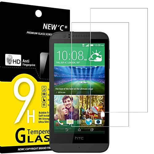 NEW'C 2 Stück, PanzerglasFolie Schutzfolie für HTC Desire 510, Frei von Kratzern Fingabdrücken & Öl, 9H Festigkeit, HD Bildschirmschutzfolie, 0.33mm Ultra-klar, Ultrawiderstandsfähig