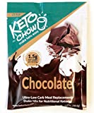 Keto Chow | Keto Meal Replacement Shake | Nutritionally Complete | Low Carb | Delicious Easy Meal Substitute | You Choose The Fat | Chocolate | Single Meal Sample