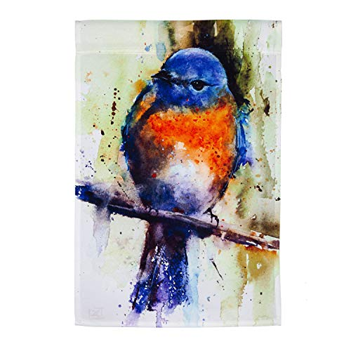 Evergreen Flag Bluebird on Branch Garden Satin Flag 12.5 x 18 Inch Double Sided Durable Outdoor Flag for Homes and Gardens