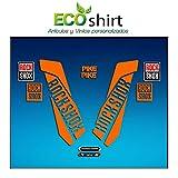 Ecoshirt K4-EFYW-Audy Pegatinas Sticker Fork Rock Shox Pike Am46 Aufkleber Decals Autocollants Adesivi Forcela Gabel Fourche, Naranja