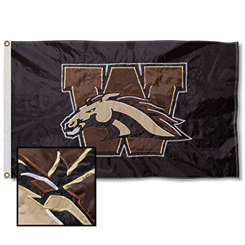College Flags & Banners Co. Western Michigan University Embroidered and Stitched Nylon Flag