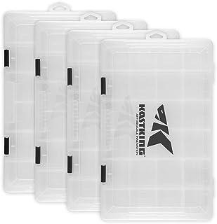 جعبه جعبه KastKing، جعبه پلاستیکی، جعبه ساز نگهدارنده پلاستیکی با جدا کننده قابل جابجایی - مخزن ذخیره سازی ماهیگیری - جعبه ساز - 2 بسته / 4 بسته بسته بندی سینی - بخش جعبه
