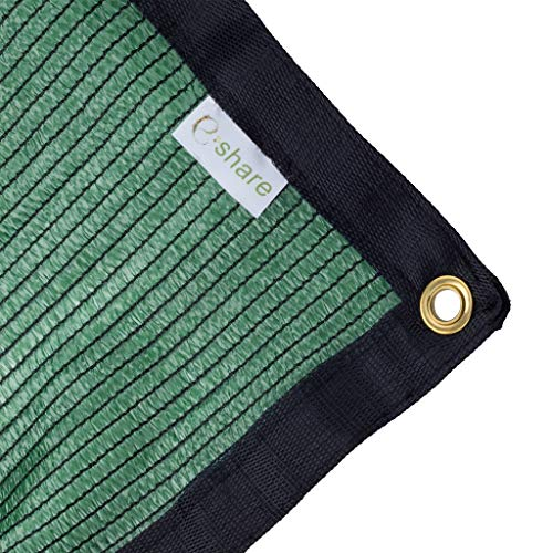 E.share 70% Green Shade Cloth Taped Edge with Grommets 12 ft X 10 ft