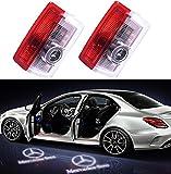 2PCS Car LED Projecteur Liuer Ghost Shadow Logo Lampe 3D Voiture Lumière D'entrée D'éclairage Bienvenue laser Projecteur pour Class A Class B Class C Class E W205 W176 W212 W166 W246 GLC GLE GLS GLA