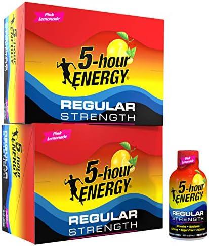 5 hour ENERGY Shot Regular Strength Pink Lemonade 1 93 ounce 24 count product image