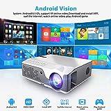 GBBG Full HD 1080P Projektor TD96 Optional Android WiFi LED Proyector India 1920 x 1080p 3D-Heimkino-Smart-Phone Beamer, kompatibel mit HDMI/VGA/USB/AV, TV-Stick, PS4 Etc.