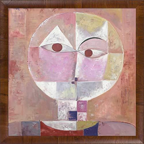La Pastiche Senecio by Paul Klee Gerahmtes Ölgemälde, Panzano Olivewood Rahmen, 24