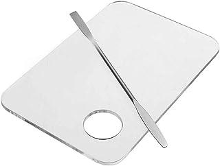 Fangfeen Nail Art Polacco del Gel di miscelazione Palette Spatola Set con l'acciaio Inossidabile di trasferimento Bar attr...