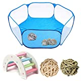 PINVNBY Small Animals Tent Portable Pet Cage Outdoor Sports Fence Hamster Rainbow Bridge Rat Chew Toy ball for Guinea Pig Rabbits Chinchillas Hedgehogs