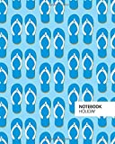 Holiday Notebook: (Blue Sky Flip-Flop Edition) Fun notebook 192 ruled/lined pages (8x10 inches / 20.3x25.4 cm / Large Jotter)