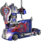 SSBH ABS Transformers Stunt-Auto-LKW Autobots Deformation Optimus Prime RC Spielzeug Transforming Roboter Fernbedienung 360 ° Geschwindigkeit Driften Lastzug Roboter-Spielzeug 11 Jahre alt Jungen-Gebu