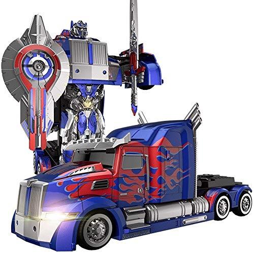 MUMUMI Transformers Optimus Prime Juguetes for niños de carga a distancia del coche del control del avispón Boy Robot de 3-6 años de fiesta de Navidad de cumpleaños de regalo Deformación Autobots Cami