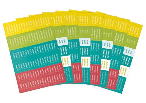 8 x Häfft Lehrer-Planer Sticker für A5+ und A4+ | Aufkleber für Lehrerkalender | nachhaltiges Papier & klimaneutraler Druck