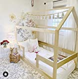 Twin House Bed with Railings