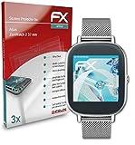 atFoliX Schutzfolie kompatibel mit Asus ZenWatch 2 37 mm Folie, ultraklare & Flexible FX Bildschirmschutzfolie (3X)