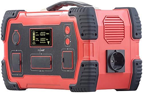 reVolt Powerstation 230V: Powerbank & Solar-Konverter, 216 Ah, 800 Wh, 230 V, 12 V, USB, 1.000 W (Stromspeicher)