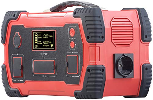 reVolt Powerstation 230V: Powerbank & Solar-Konverter, 216 Ah, 800 Wh, 230 V, 12 V, USB, 1.000 W (Akkupack)