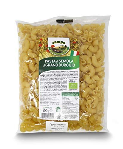 Carioni Food & Health Pasta Italiana Caracol con sémola de Trigo Duro ecológica - 500 gr (Paquete de 12 Piezas)