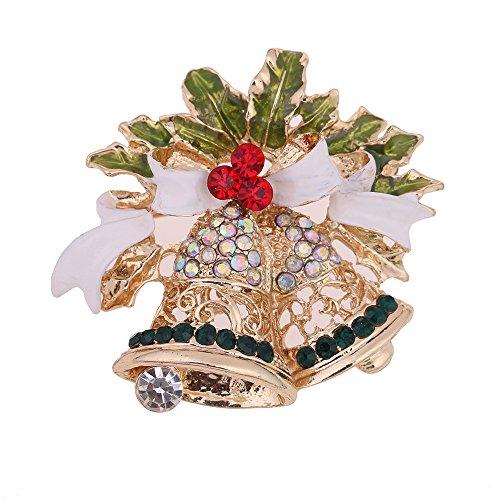 Coogg elegant, hoogwaardig, roze, meerkleurig, kerstbroche, grenen set, sneeuwman, bloem, mand, kerstcadeau, voor kerstdecoratie, 2 stuks Cloche